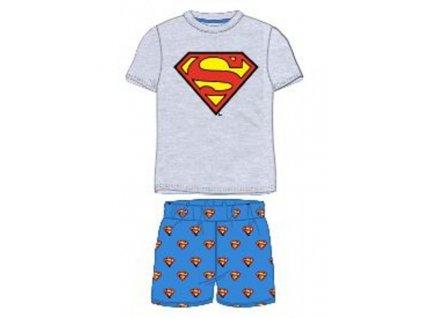 chlapecke letni pyzamo superman sede (1)
