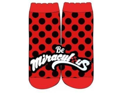 Dívčí ponožky - Kouzelná Beruška Miraculous 34, červená