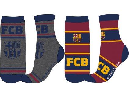 Chlapecké ponožky - FC Barcelona 33, šedá/vínová