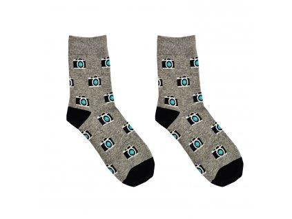 Pánské ponožky Aura.Via - FC6767, světle šedá/ fotoaparát