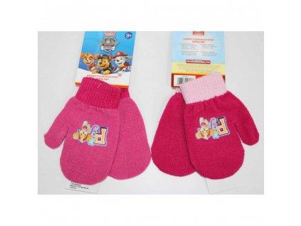 Dívčí rukavice - Paw Patrol 800-643, růžová sytě/světlý pás