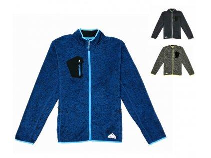 Pánská outdoorová mikina - KUGO T6709, modrá