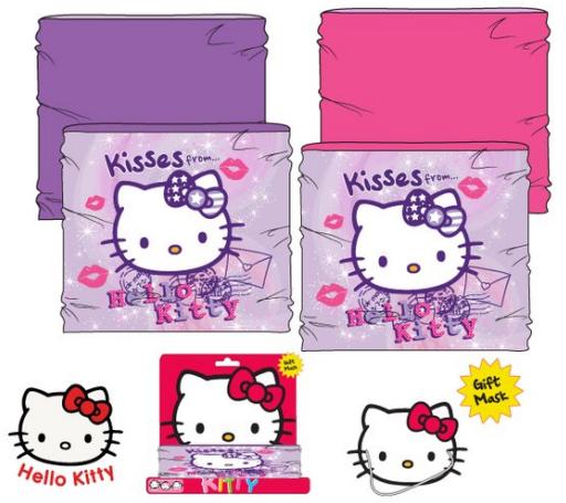 Hello Kitty - licence Dívčí nákrčník - Hello Kitty HO4487, uni velikost Barva: Růžová, Velikost: uni