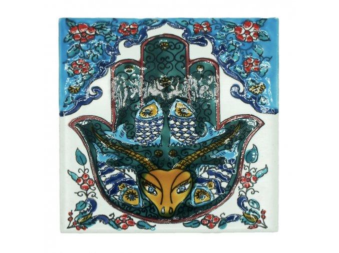 Obklad RUKA FÁTIMY | 15 x 15 cm