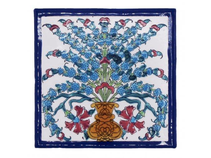 obklad 7 váza s modrými květinami