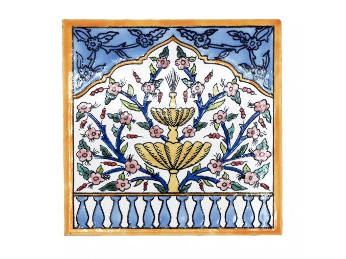 obklad 12 fontána s květinami