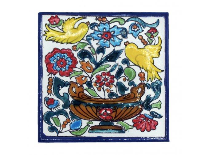 obklad 16 ptáčci s květinami