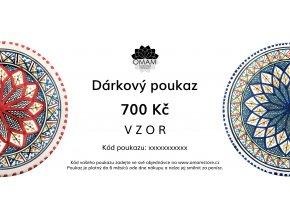 darkovy poukaz 700 VZOR