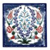 obklad 4 modré květiny