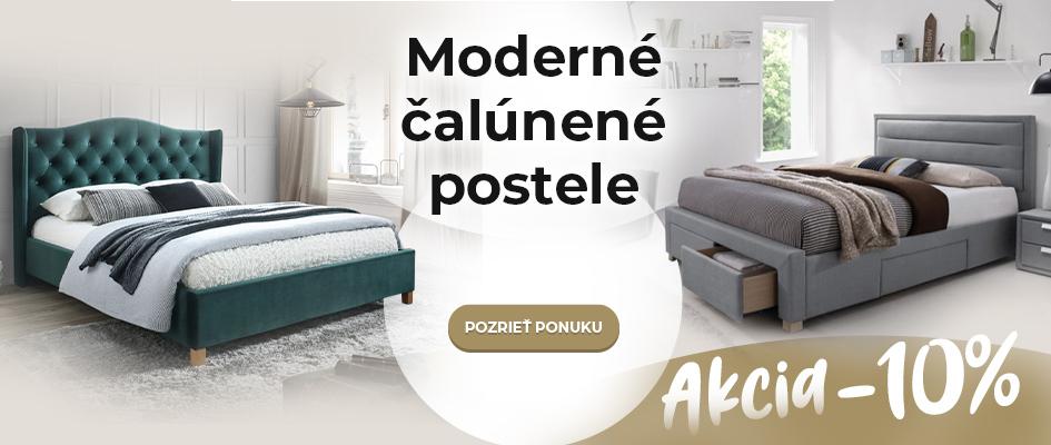 Moderné čalúnené postele - akcia -10%