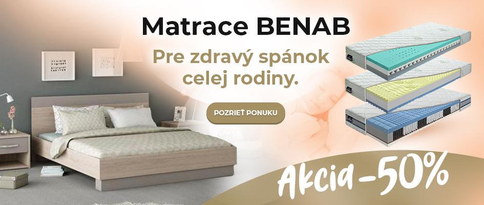 Matrace BENAB pre zdravý spánok Akcia -50%