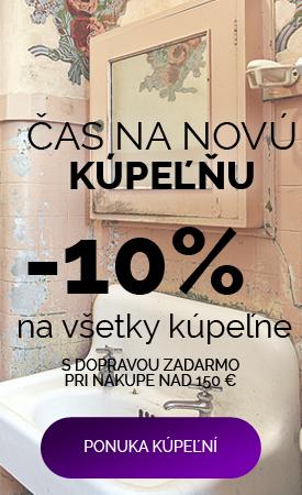 Zľava 10 % na kúpeľne