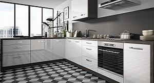 Kuchynské linky s akrylovými dvierkami