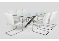 Jedálenské stoly so sklom