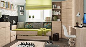 Sektorový nábytok pre študentov