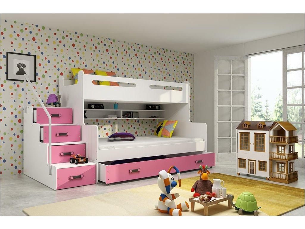 a2eca771c79f8 Krásna detská poschodová posteľ Max 3 - omega-nabytok.sk