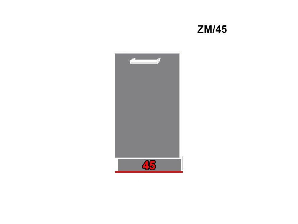Dvierka na umývačku riadu Titanium ZM/45 (FARBA DVIEROK Fino biele)