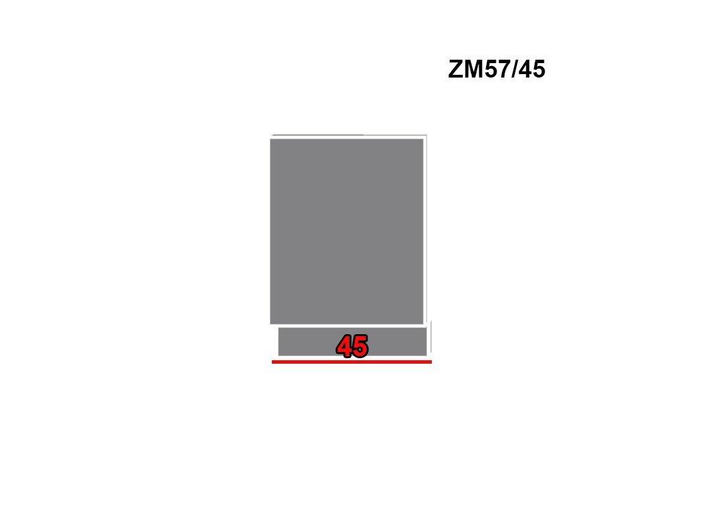 Dvierka na umývačku riadu Titanium ZM57/45 (FARBA DVIEROK Fino biele)