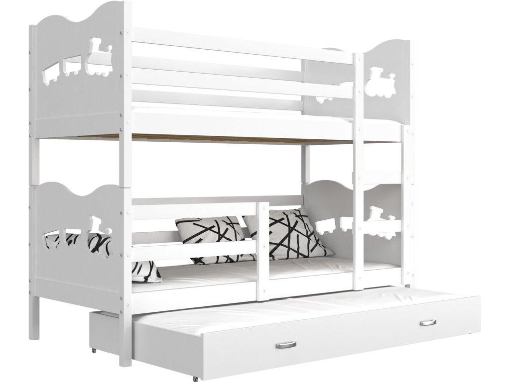 790f9dcaf0a0a Detská poschodová posteľ MAX, trojlôžko na predaj | Omega-nabytok.sk