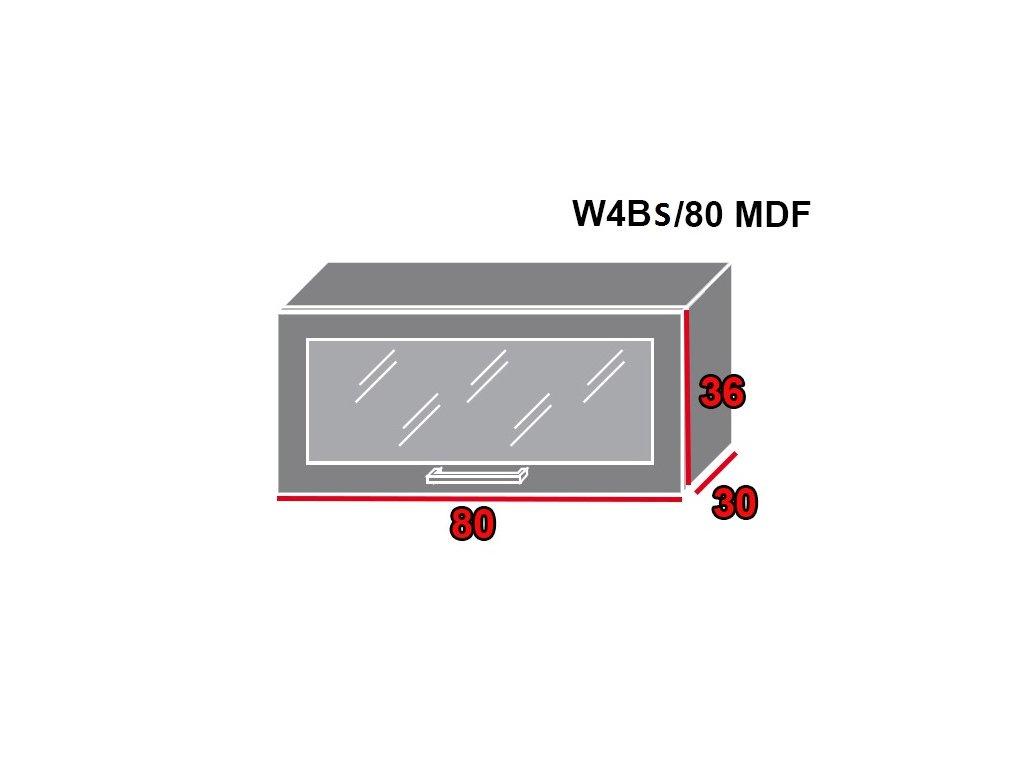 Vrchná kuchynská skrinka Brerra W4BS/80 MDF