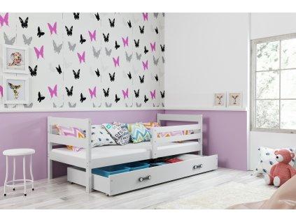 detska jednolozkova postel ERYK BIELA BIELA