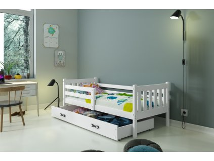 detska jednolozkova postel CARINO BIELA BIELA
