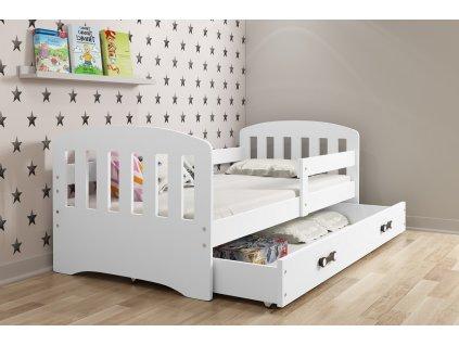 detska jednolozkova postel CLASSIC BIELA BIELA