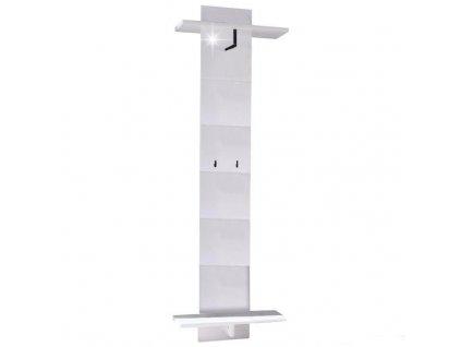 Vešiakový panel, biela/vysoký lesk, DERBY