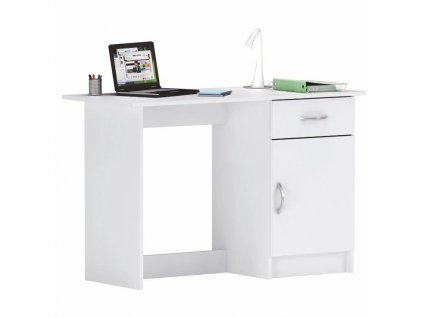 PC stôl, biela, SIRISS
