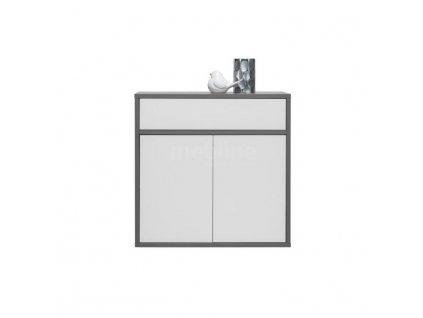 Komoda, sivá grafit/biela, MARSIE M4