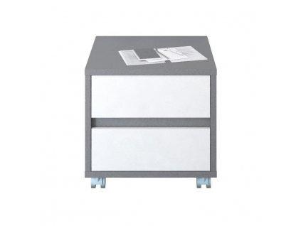 Kontajner, DTD laminovaná, sivá grafit/biela, MARSIE