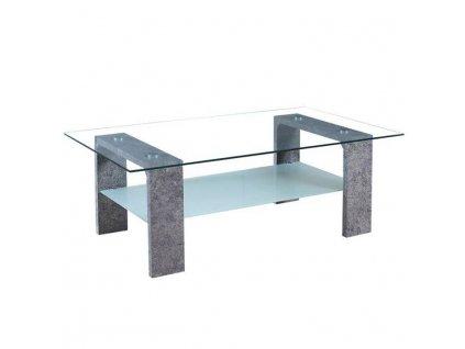 Konferenčný stolík, MDF/sklo/matné sklo, betón, BELTON