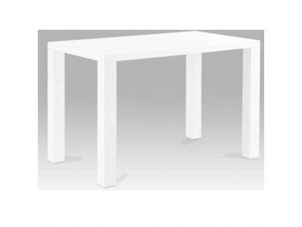 Jedálenský stôl, biela vysoký lesk HG, ASPER TYP 3