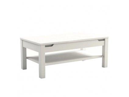 Konferenčný stolík, biely vysoký lesk, ADONIS AS 96