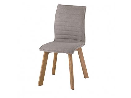 Jedálenská stolička, sivá látka/kov, buk, NASTIA