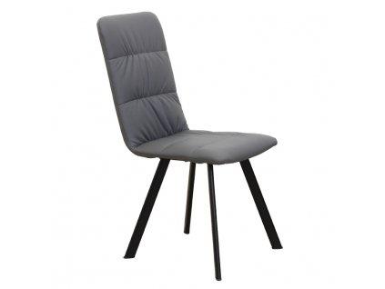 Jedálenská stolička, sivá/čierna, AKIM