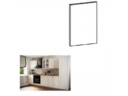 Dvierka na vstavanú umývačku riadu, 44,6x57, sosna Andersen, SICILIA