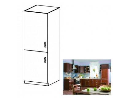 Dolná skrinka na vstavanú chladničku D60ZL, ľavá, orech Milano, SICILIA