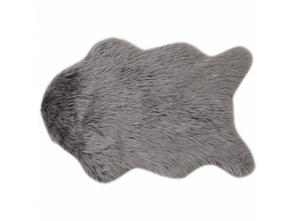 Umelá kožušina, sivá, 60x90, EBONY TYP 5