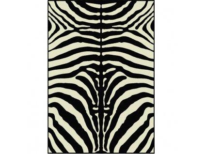 ARWEN koberec 40x60 cm v prevedeni vzor zebra, 100% viskóza
