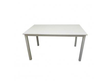 Jedálenský stôl, biela, 110 cm, ASTRO