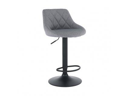 Barová stolička, sivá/čierna, TERKAN