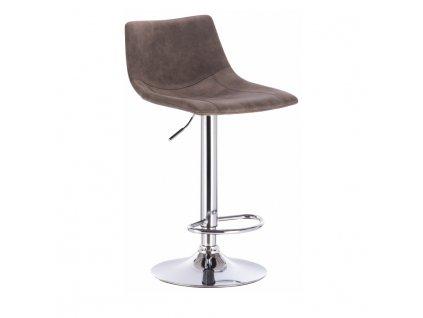 Barová stolička, sivohnedá/kov, LENOX