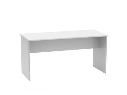 Kancelársky stôl, obojstranný,  biela, JOHAN NEW 08