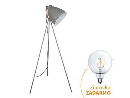 Stojacia lampa, sivá, TORINO WA001-G