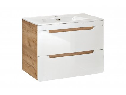 moderna biela leskla skrinka pod umyvadlo 60 80