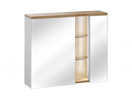 91755 7 moderna biela zrkadlova skrinka bahama biela 841