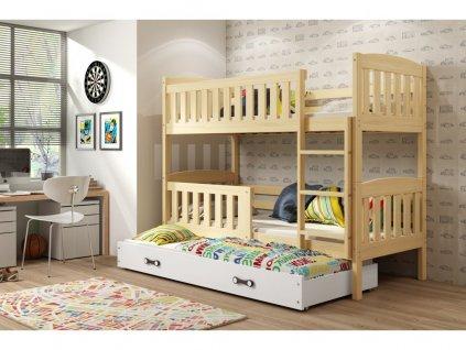 168279 4 postel eryk borovica biela 200x90