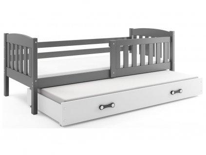 168324 7 detska postel kubus siva s pristelkou 3