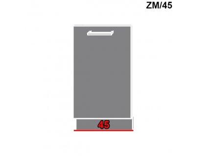 Dvierka na umývačku riadu Silver duo ZM/45